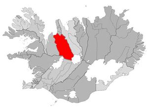 Húnavatnshreppur - Image: Hunavatnshreppur map