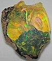 Hydrophane opal (precious opal) immersed in water (Tertiary; Ethiopia) 6 (32332077070).jpg