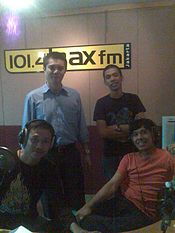 ID Wikipedians Trax FM July 2009.jpg