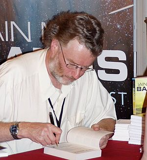 Iain Banks - Banks book signing at the 63rd World Science Fiction Convention in Glasgow, August 2005