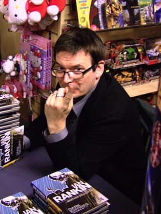 Ian Rankin - Rankin signing copies of his debut graphic novel, Dark Entries, in the Edinburgh Forbidden Planet International store