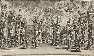 Il pomo d'oro - Burnacini's stage set for the underworld scene