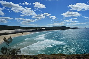 Fraser Island - View north from Indian Head, 2016