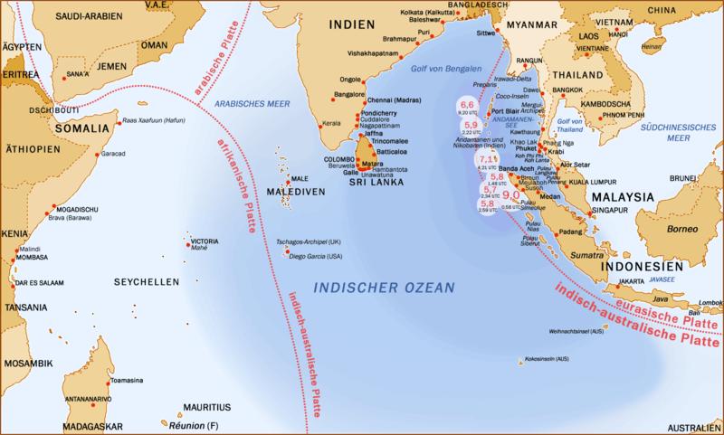 Asiatisches Erdbeben und Tsunami 2004