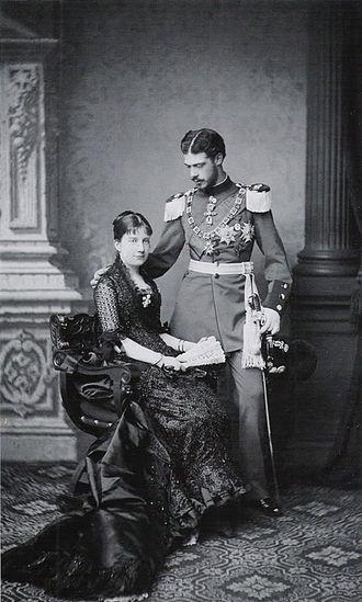 Infanta María de la Paz of Spain - Infanta Paz and Prince Ludwig Ferdinand of Bavaria, 1883
