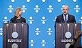 Informal meeting of defence ministers (FAC). Press conference Federica Mogherini and Jüri Luik (36270560333).jpg