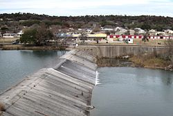 Ingram Dam with town in the background