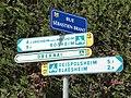 Innenheim (Bas-Rhin) véloroute panneaux, Rue Sébastien Brant.jpg