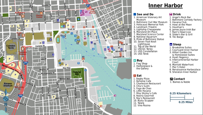 Inner Harbor Map Png