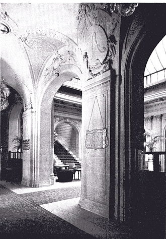 Hotel Astoria, Brussels - A view of the Hôtel Astoria, Brussels, interior.