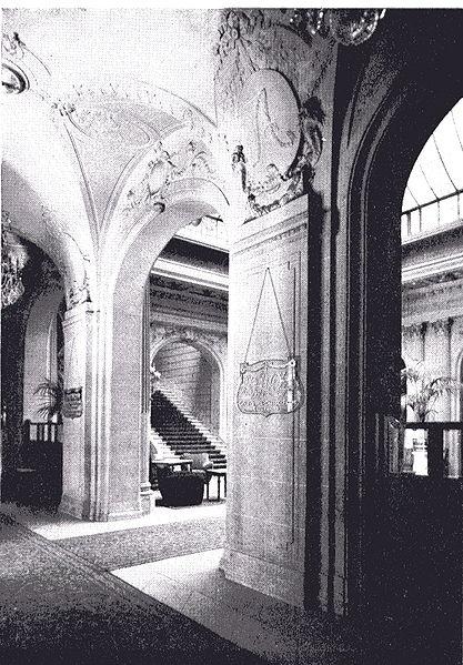 File int rieur h tel astoria bruxelles arch henri van for Hotel interieur