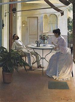 Interior al aire libre wikipedia la enciclopedia libre for Color de pintura al aire libre casa moderna