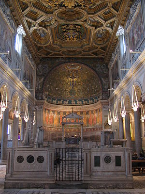 Basilica of San Clemente al Laterano - Interior of the second basilica