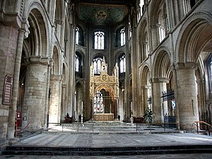 Cynesige - Interior of Peterborough Cathedral. Cynesige was buried here when it was an abbey.