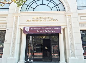 International Art Museum of America - Entrance to the museum on a day in 2016 when entrance was free
