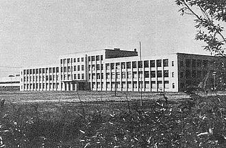 International Christian University - International Christian University in 1950s. The main building was used by Mitaka Institute of the Nakajima Aircraft Company.