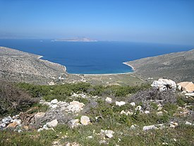 Ios island, Cyclades, Greece beach view 2007.jpg