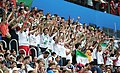 Iranian supporters in match against Morocco, 2018 FIFA World Cup 3.jpg