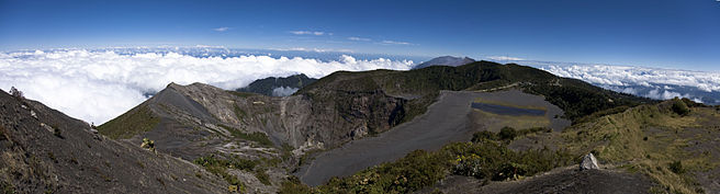 Panoramic view of Irazú Volcano