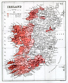 History Of The Irish Language Wikipedia - Irish language map