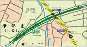 Ise-nishi IC Map in 2016.png