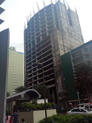 Alveo Financial Tower - The tower as the JAKA Tower in 2015