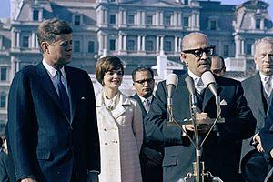 Ramón Villeda Morales - President Ramón Villeda Morales meeting with John F. Kennedy in  1962