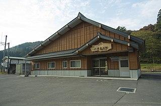 Kuwanagawa Station Railway station in Iiyama, Nagano Prefecture, Japan