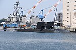 JS Seiryū(SS-509) & Oyashio class submarine right front view at U.S. Fleet Activities Yokosuka April 30, 2018 01.jpg