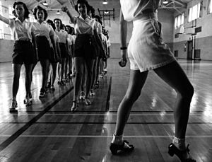 Dance education - Tap dancing class, 1942.