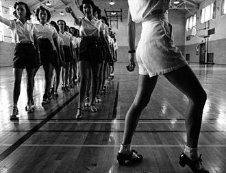 Dance education - Tap dancing class, 1942.