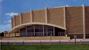 Exterior of Jacksonville Veterans Memorial Coliseum