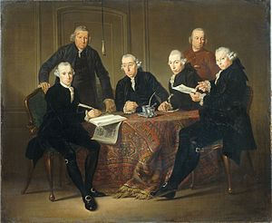 Jacobus Luberti Augustini - Regents of the Leprozenhuis in Amsterdam in 1773