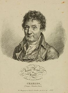 Jacques Charles French inventor, scientist, mathematician, and balloonist