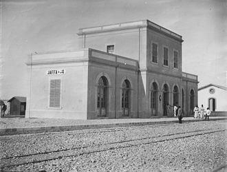 Jaffa–Jerusalem railway - Jaffa Railway Station, 1891