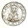 Jahrbuch MZK Band 03 - mittelalterliche Siegel Fig 11 regulierte Chorherren Klosterneuburg - Heilige Maria Nivenburch 1.jpg