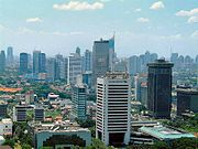 Jakarta, the capital of Indonesia and the country's largest commercial center