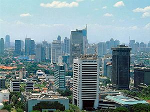 Jakarta, the capital of Indonesia and the coun...