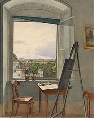 View from the Artist's Studio in Alservorstadt toward Dornbach
