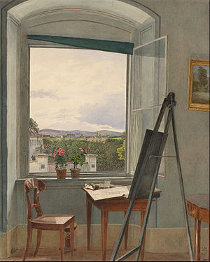 Jakob Alt - View from the Artist's Studio in Alservorstadt toward Dornbach, 1836