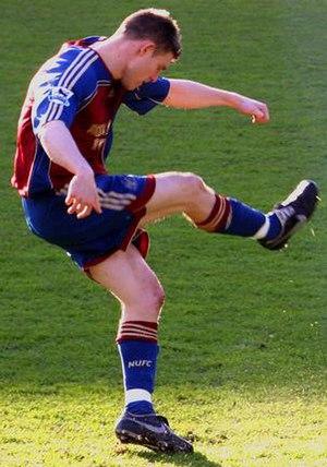 James Milner - Milner taking a free kick for Newcastle United in 2007