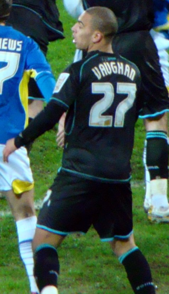 James Vaughan (footballer, born 1988) - Vaughan playing for Leicester City in March 2010