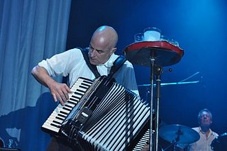James Fearnley - James Fearnley, Zenith, Munich, 07-06-2011 with the Pogues (photo: Zuzana Pernicová)