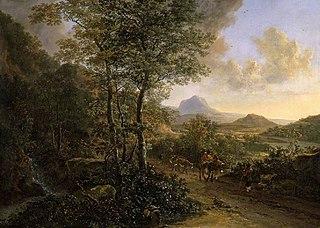 Italian Landscape with Monte Socrate