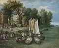 Jan Brueghel the Elder - River Scene - Landungsplatz 5597.jpg