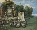 Jan Brueghel the Elder - River Scene - Landungsplatz 5597.jpg