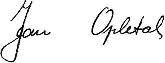 Jan Opletal - Image: Jan Opletal podpis