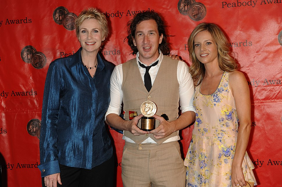 Jane Lynch, Ian Brennan and Jessalyn Gilsig at the 69th Annual Peabody Awards