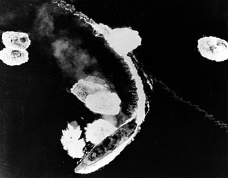 Attack on Kure (March 1945) - Yamato under attack off Kure on 19 March