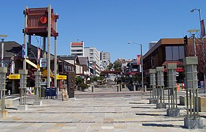 Japantown, San Francisco - Looking north on Buchanan Street, across Post Street in Japantown.